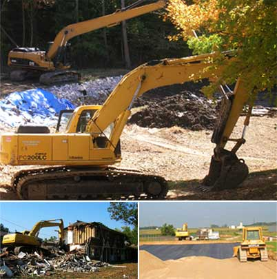 Image of excavating services provided by Vieira Brothers